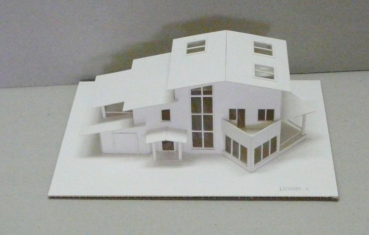 Макет дома будущего из бумаги схемы