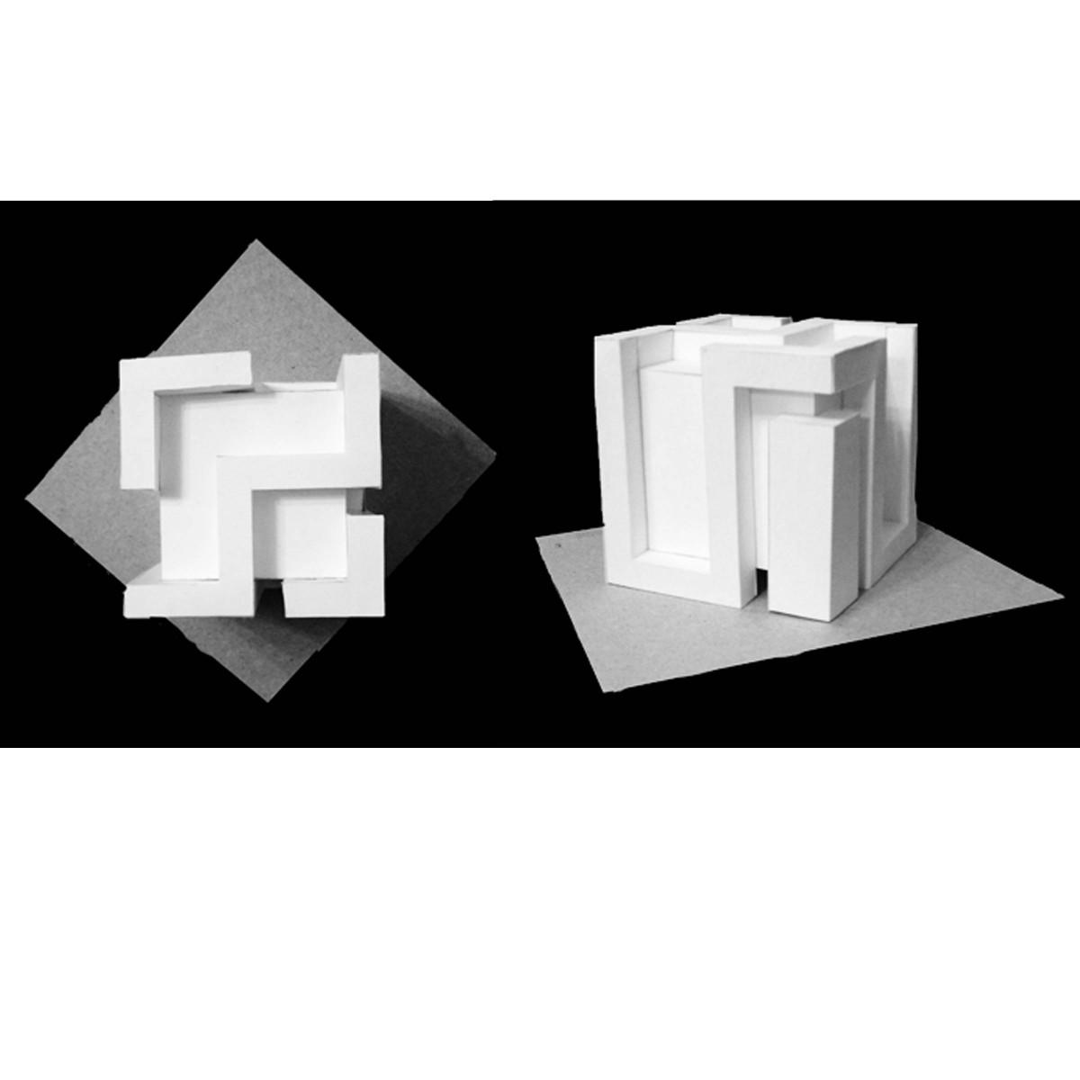 Макетирование из бумаги схемы куба