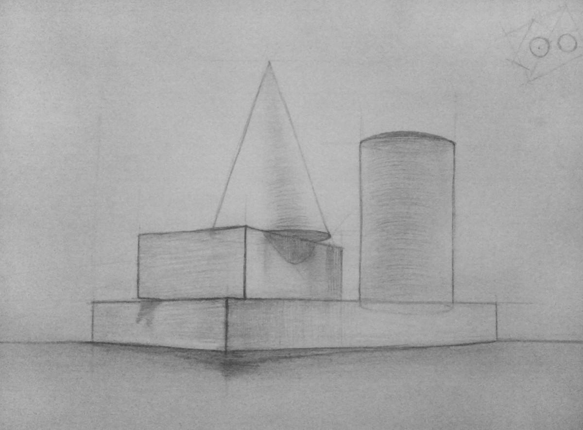 рисунок из геометрических фигур: