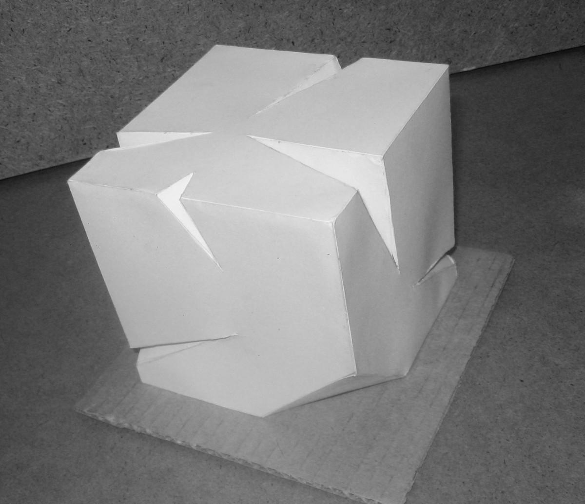Как сделать бумажный кубик 75