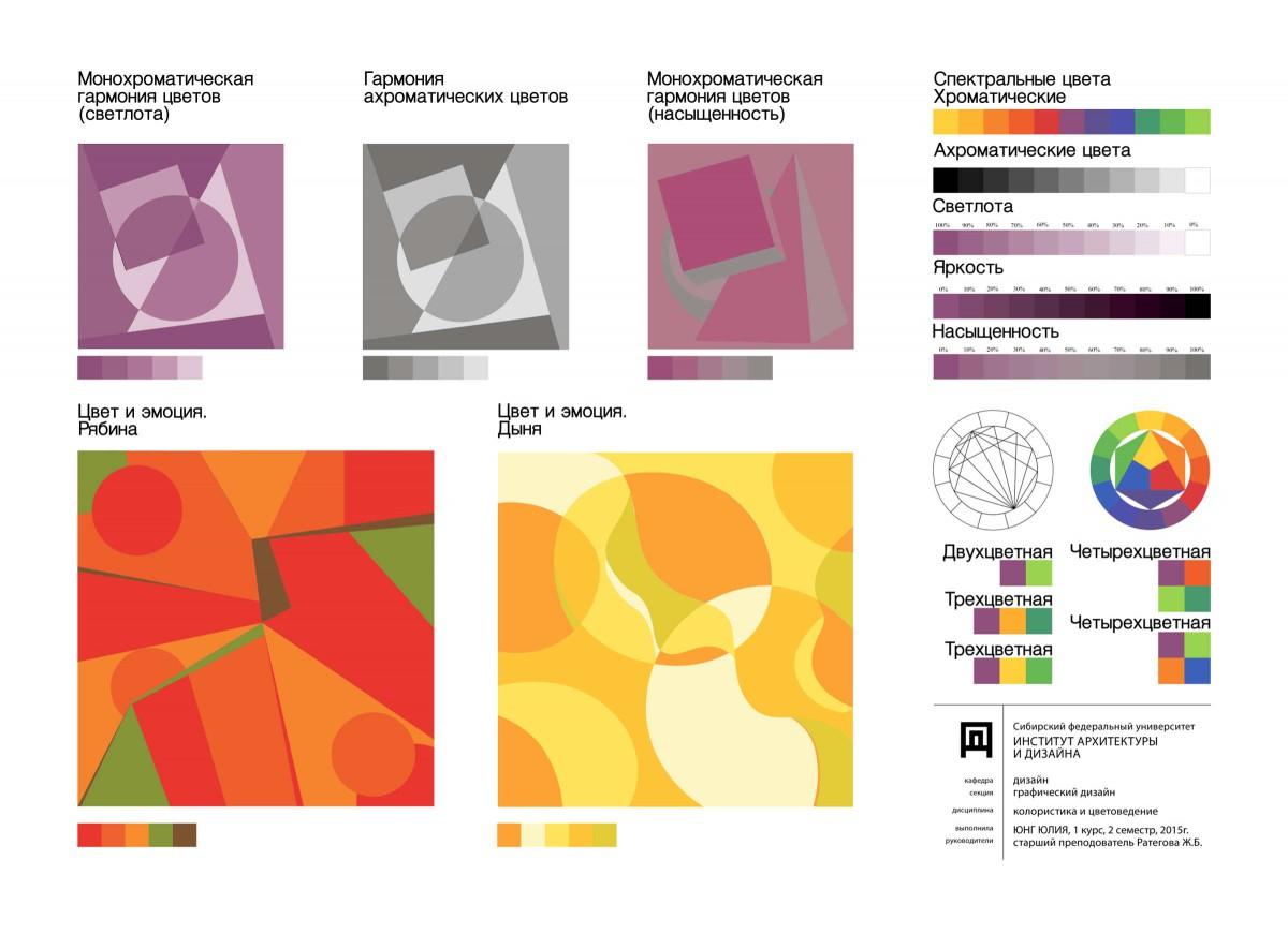Цветовая схема в дизайне основы теория 14