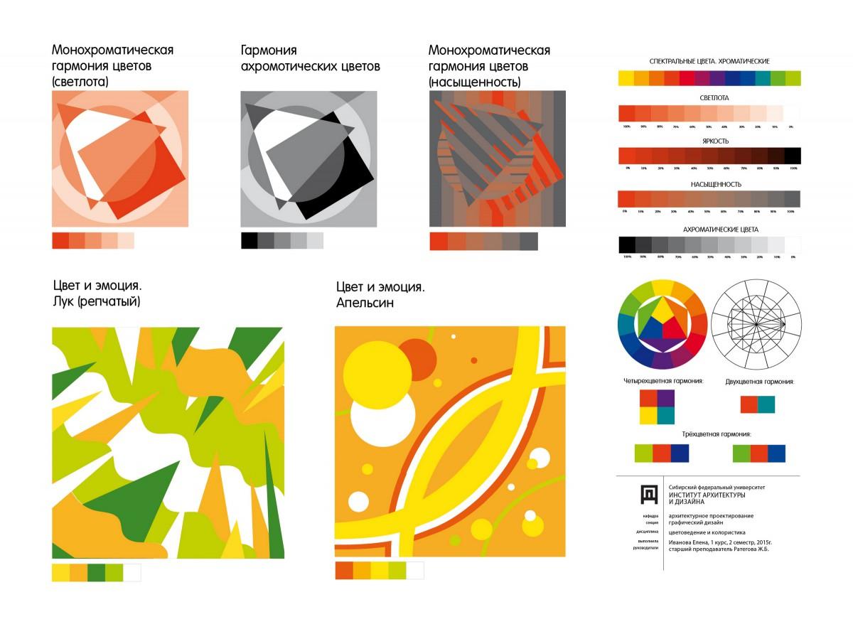 Цветовая схема в дизайне основы теория 21