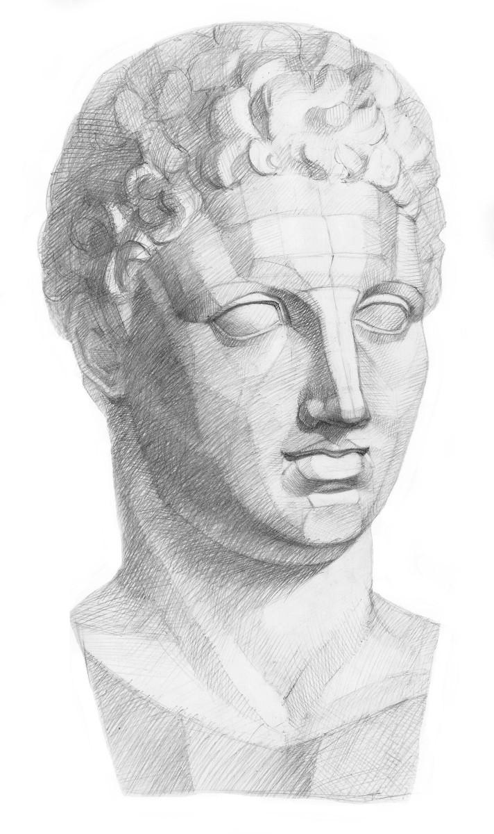 Голова гермеса в рисунке